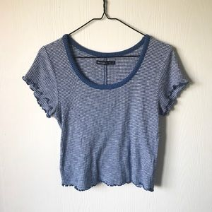 Abercrombie and Fitch Blue Textures Crop Top